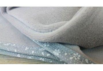 ORGANIC Scandinavian Style Flowers MAXI Baby Blanket - 100% ORGANIC COTTON