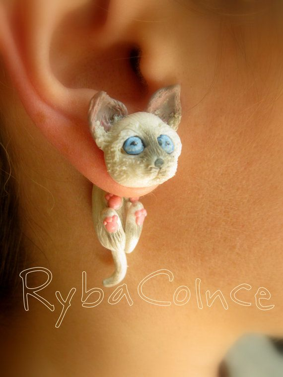 Fake ear tentacle gauges  Faux gauge/Gauge by RybaColnce on Etsy, $29.00