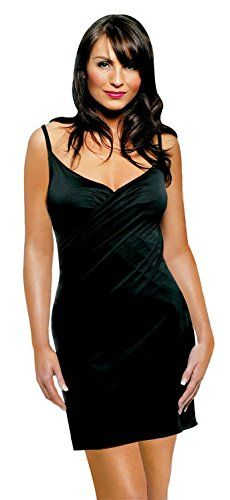 saress Kreuz �ber Strand Cover Up (klein, Venus) Gr. Medium, Schwarz - Schwarz