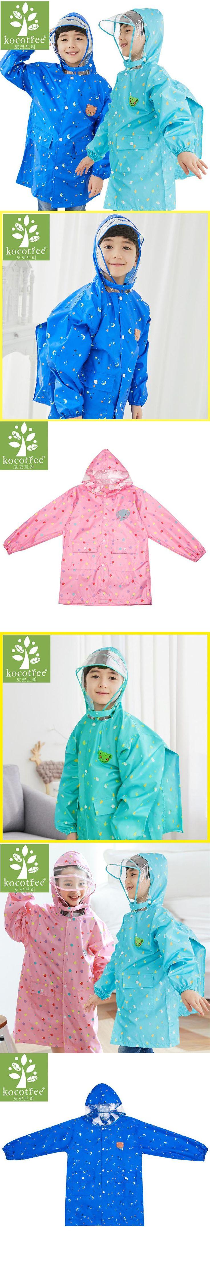 Cartoon Animal Frog/Elephant/bear Children Raincoat Kids Girls boys Rainproof Rain Coat Waterproof Poncho Student Raincoat