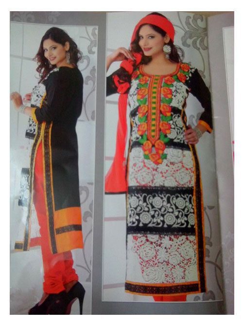 SV-KA0175 at JUST @ $74 Buy at http://www.shopvhop.com/product/rose-border-black-color-anaya-designer-collection/