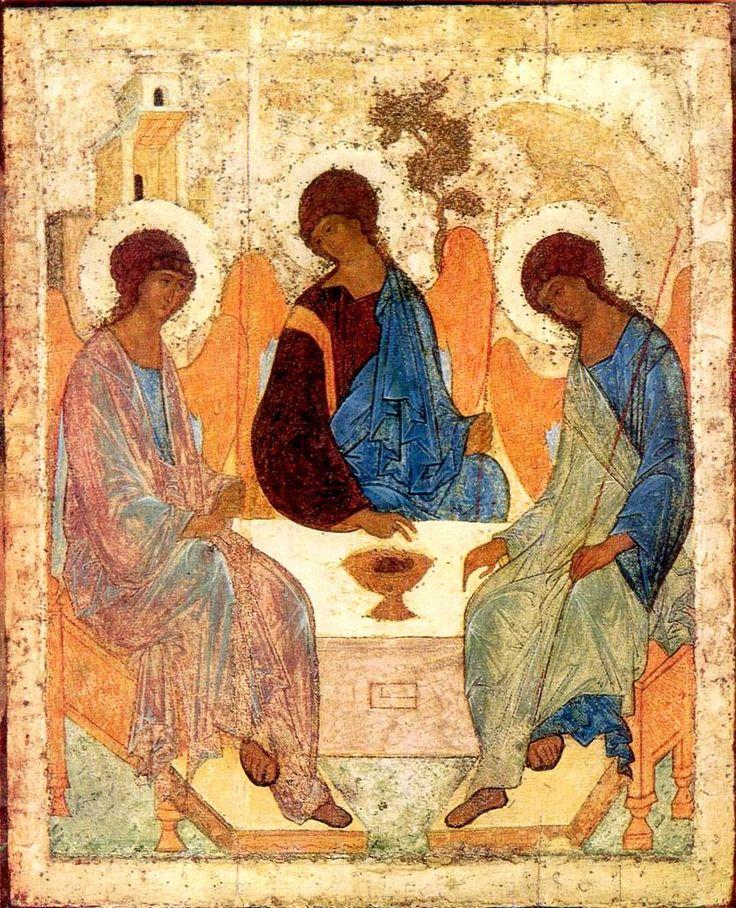 Icoane Ortodoxe: Sfânta Treime, de Andrei Rubliov  http://www.pinterest.com/mmilivojac/orthodox/