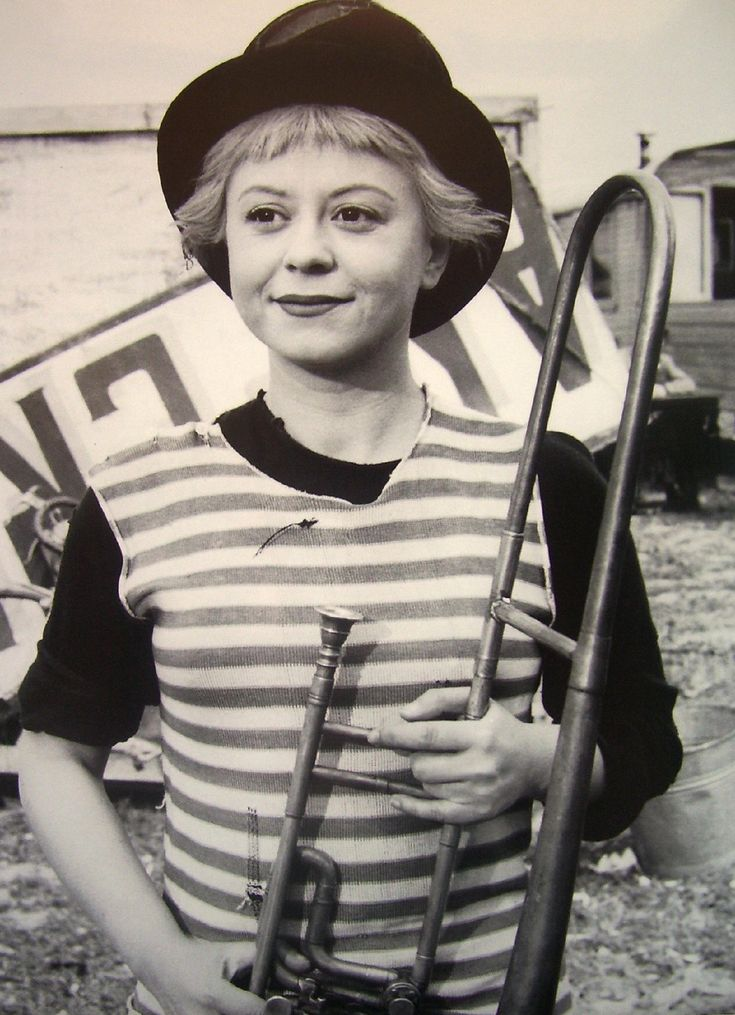 Giulietta Masina. So powerful in her art, she pulled out your guts and showed them to you in tears. La Strada, that is all.