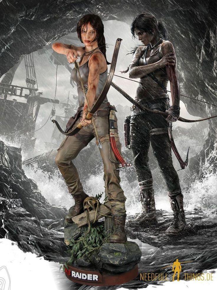 new in box Tomb Raider Lara Croft 2013 life size Figur Statue Lifesize Muckle