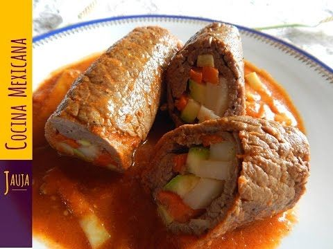 Bisteces Rellenos - YouTube