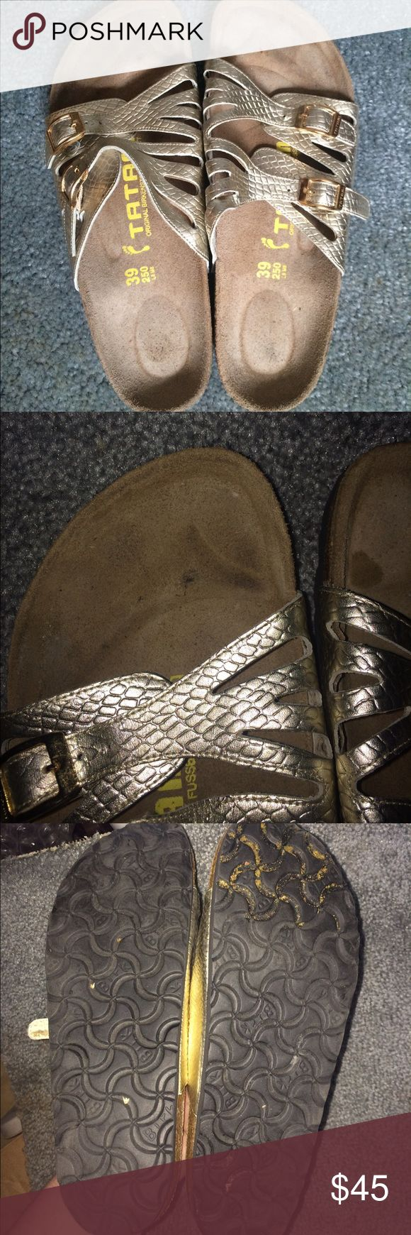 Birkenstocks tatami size 39 Gently used. Some surface stains could probably be removed (haven't tried) comfortable, still tons of life left in them! They are not even broken in yet! Birkenstock Shoes Sandals