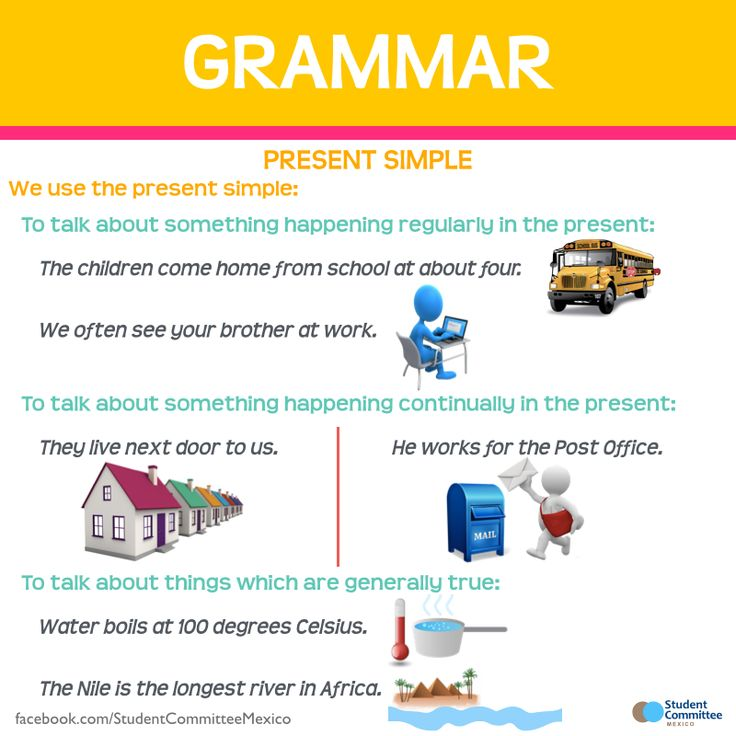 Grammar: When to use 'Present simple'?