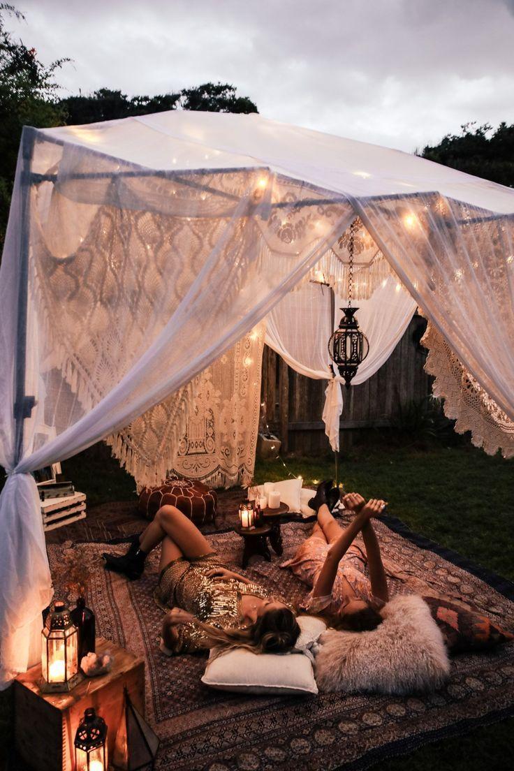 »Exteriores exóticos» vida não tradicional »lar boêmio» vida boho »aw … – #bohemian # …   – Summer Party Ideen