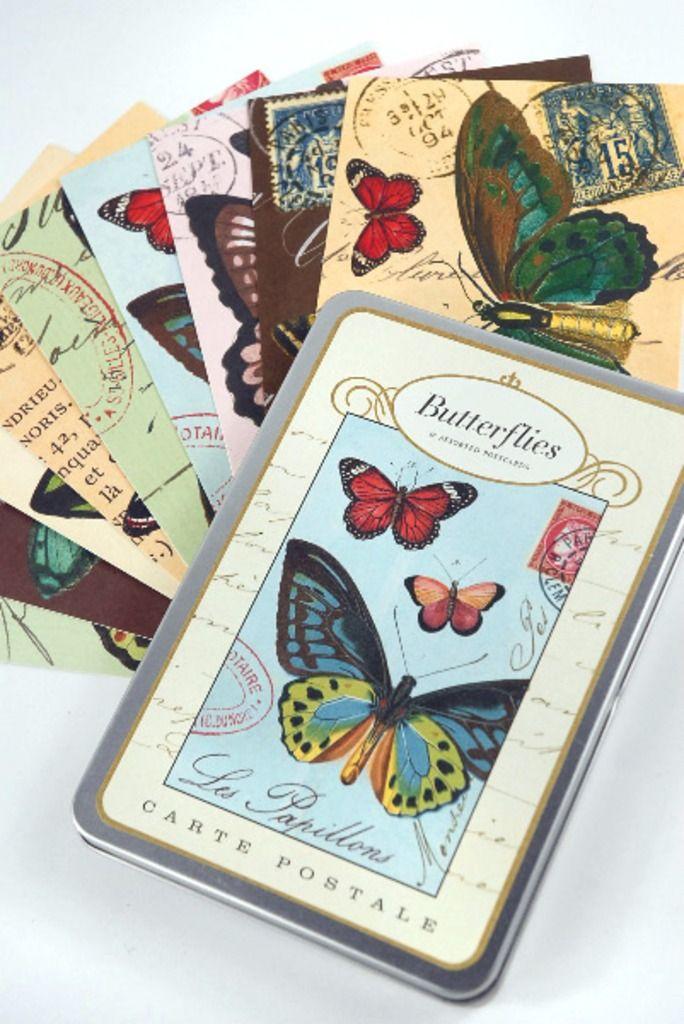 18 Butterflies postkaarten - Cavallini & Co - Postpapier enzo