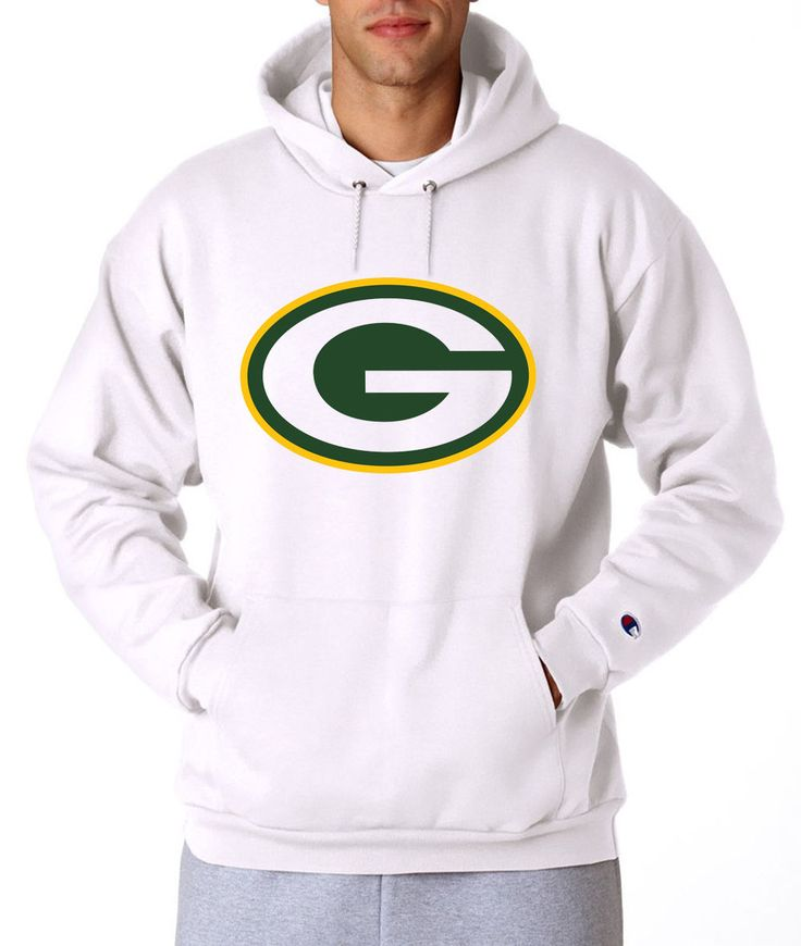 Green Bay Packers Champion Hoodie Pullover Sweatshirt Hooded Sweater Mens NEW
