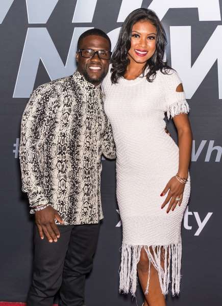 "Celeb photos of the year 2016:     Kevin Hart and wife Eniko Parrish attend the ""Kevin Hart: What Now?"" screening at UA Riverview 17 in Philadelphia on Oct. 12, 2016."
