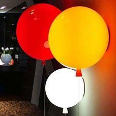 vägglampa 3W LED barnrum färgad ballong akryl 220-240V