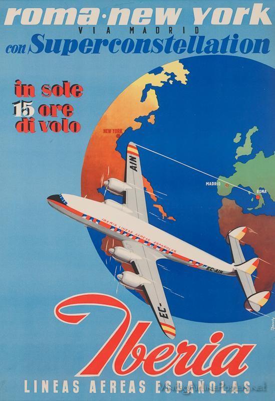 Carteles de líneas aéreas del siglo XX | ENCICLOGRÁFICA