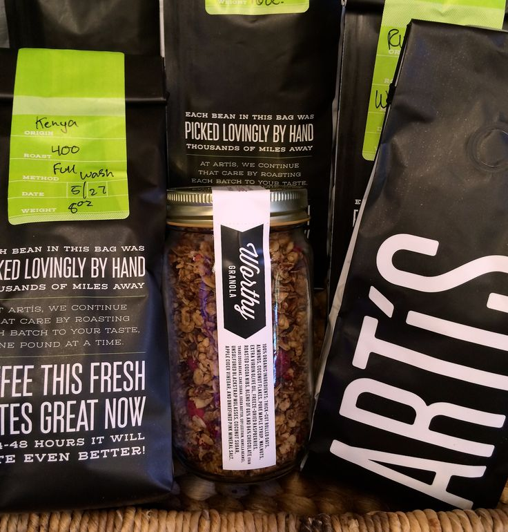 Artis Coffee | 4th St. Berkeley | Snack break while shopping? Stop into Artis Coffee on 4th St. and grab a jar of Worthy Granola to go with your coffee