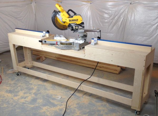 21 Best Miter Saw Table Images On Pinterest Woodworking