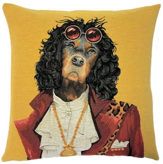 Throw Pillow Cover Dog Portrait of The