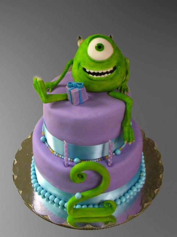 Monsters Inc- good kids cake idea
