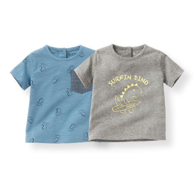 T-shirt imprimé dinosaure 1 mois-3 ans (lot de 2) R mini