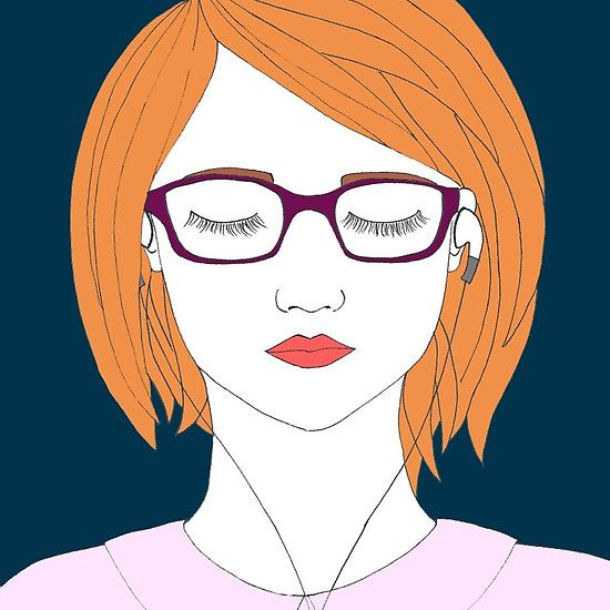 In Her Own World. A self portrait by moi. I'm known as le-pamplemousse (my favourite ever French word) on RedBubble. I'd love if you gave my portfolio a browse! Thankyou!