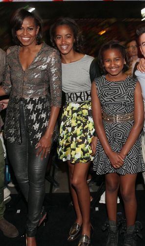First Lady Michelle Obama & First Daughters Malia & Sasha.