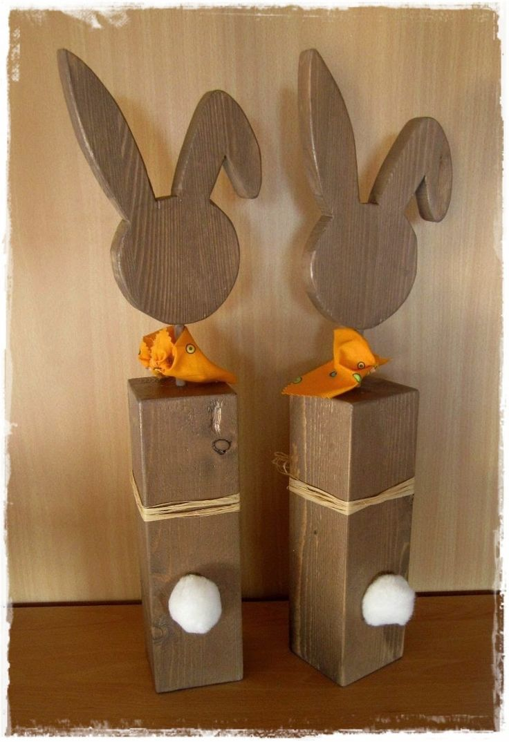 die besten 25 osterhasen aus holz ideen auf pinterest. Black Bedroom Furniture Sets. Home Design Ideas