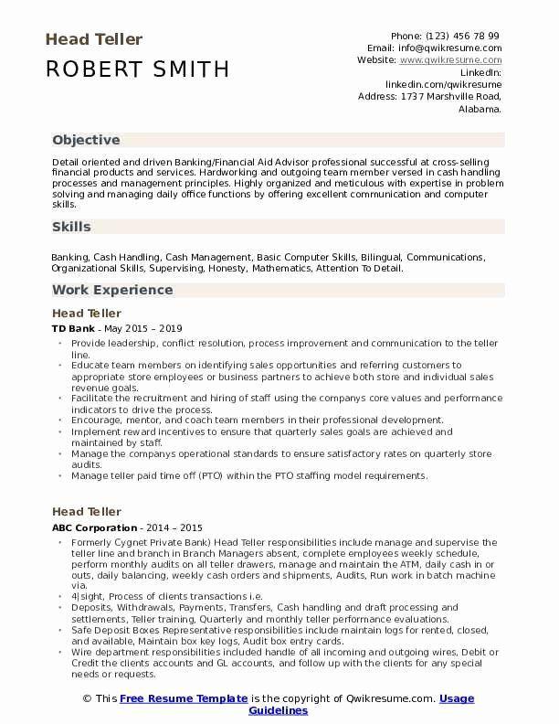 Bank Teller Resume Sample Amp Writing Tips Companion Bank Teller Resume Bank Teller Resume Examples