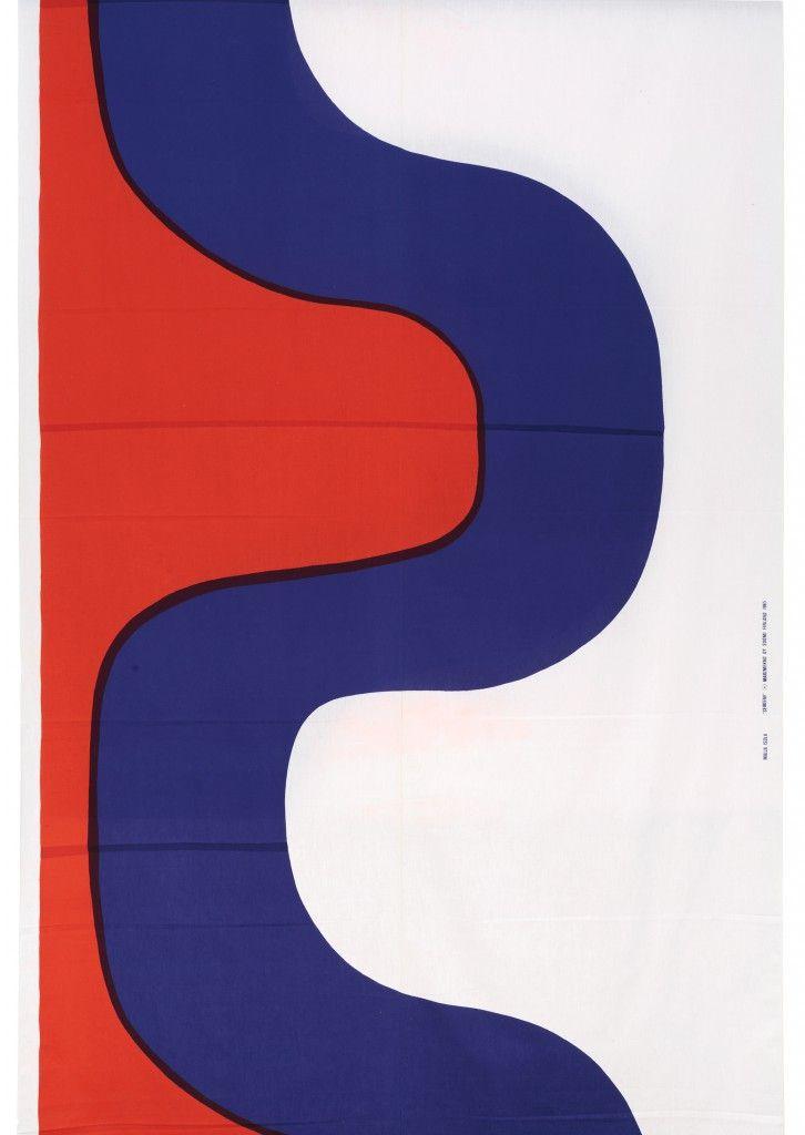Maija Isola, Seireeni, Printed cotton, 1965, Marimekko. Photo: Rauno Träskelin