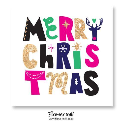 Glittered Merry Christmas www.flowermill.co.za