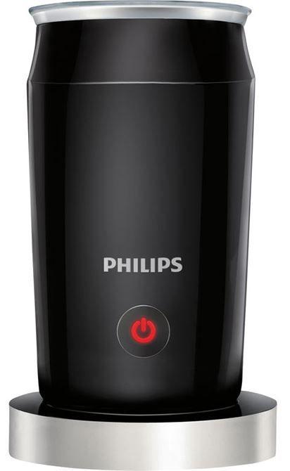 Philips CA6502/65 Melkopschuimer  Philips CA6502/65 Melkopschuimer De Philips CA6502/65 Melkopschuimer laat u thuis genieten van allerlei warme en koude koffierecepten zoals een latte macchiato cappuccino of de perfecte ijskoffie. U kunt de innovatieve Philips-melkopschuimer instellen op de ideale snelheid en temperatuur voor de ultieme stijfheid en fijnheid van het schuim.De Philips-melkopschuimer heeft slechts één knop voor eenvoudige bediening. Met een capaciteit van 120 ml kunt u met de…