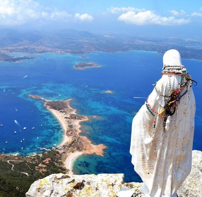 Just south of Sardinia's world-famous Costa Smeralda, the lonely island of Tavolara rises wildly from the cerulean sea like a jagged mountain. There are no roads or hotels, and the only inhabitable stretch is a white-sand tongue that's best measured from end to end in steps.