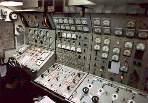 Nuclear Submarine Maneuvering Room Uss John Adams Ssbn
