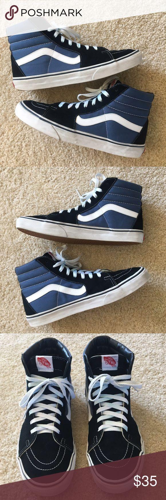 Vans Sk-8 HI's Vans Sk-8 HI's                                                                          Color: Black & Blue         Size: 10.5         Condition: Great Vans Shoes Sneakers