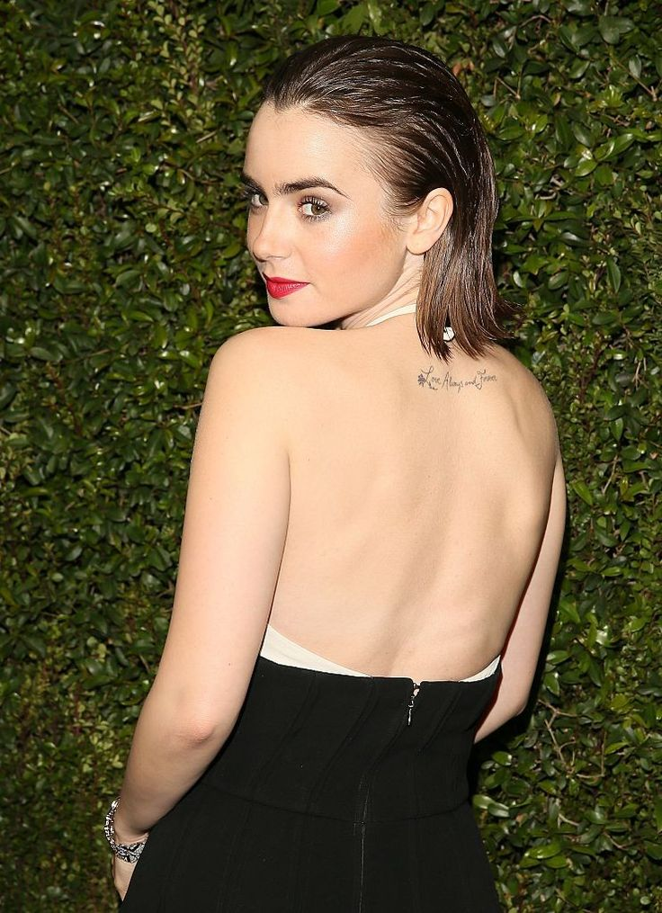 Lily Collins - Chanel & Charles Finch Pre-Oscar Dinner (February 21)