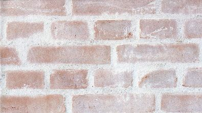 Surface treatment of brick walls in completely brick-built buildings