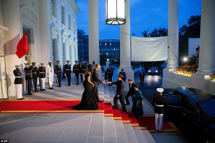 Beautiful :: President Barack Obama and first lady Michelle Obama greeted Chinese president Xi Jinping ...