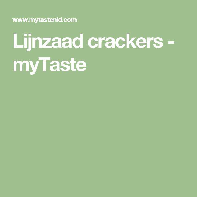 Lijnzaad crackers - myTaste