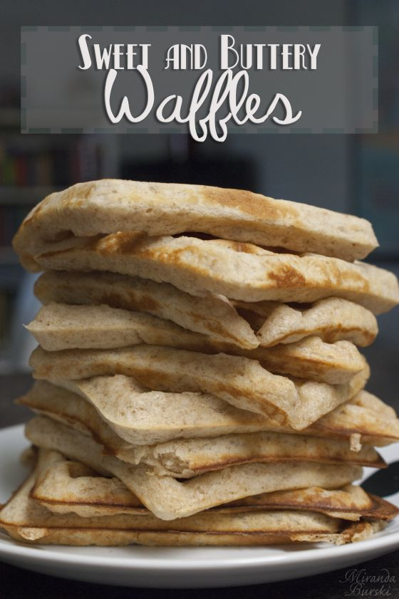 Sweet and Buttery Waffles - These waffles are easy to make, crispy on the outside, and soft on the inside. And they freeze wonderfully--perfect for a make-ahead breakfast. (scheduled via http://www.tailwindapp.com?utm_source=pinterest&utm_medium=twpin&utm_content=post79937889&utm_campaign=scheduler_attribution)