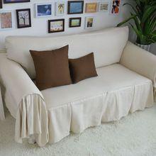 Decorativo tampa do sofá secional moderno Slipcover bege algodão capa de tecido parathe sofá conjuntos sofá simples 200 * 260(China (Mainland))