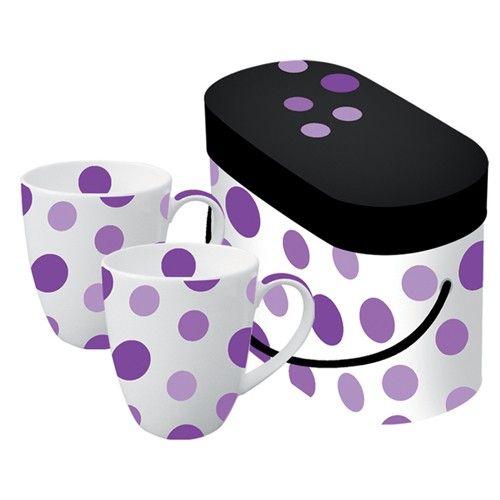 Spot Purple Coffee Mug Set
