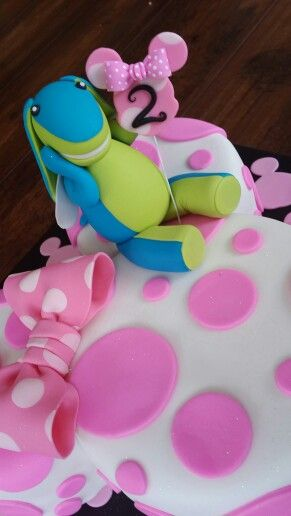 Lollos and minniemouse cake