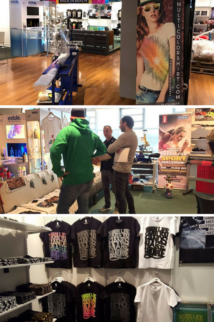 Multicolorshirt auf der Merchandising Messe Hamburg