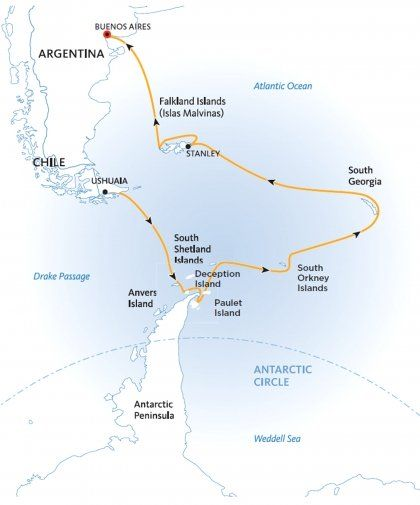 Falklands, South Georgia and Antarctica Ending In Buenos Aires | Quark Expeditions