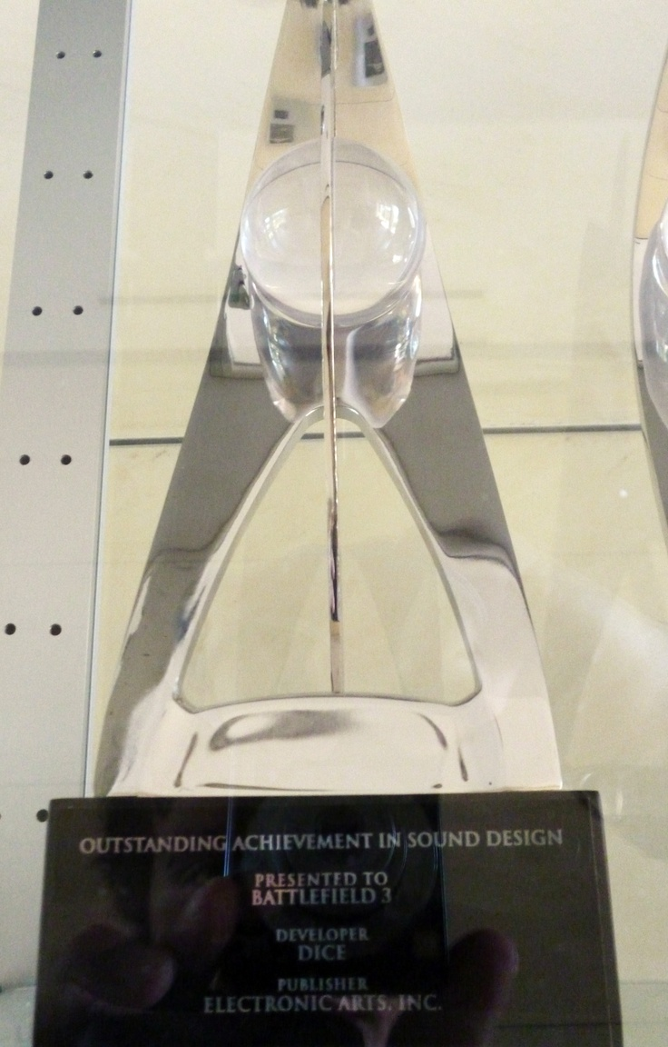 Outstanding achievement in Sound Design for Battlefield 3!