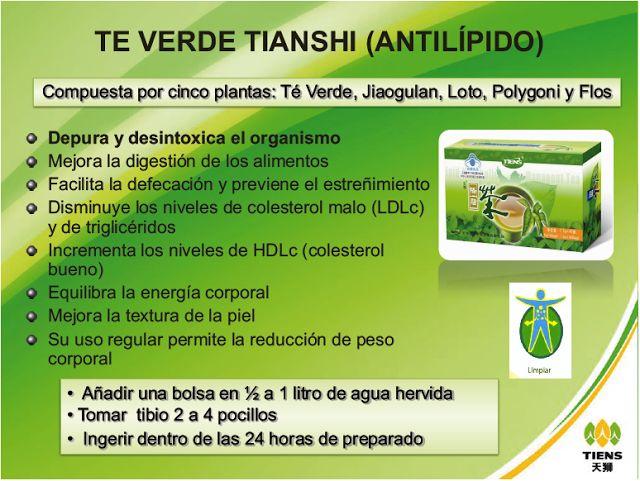 Te Verde Tiens  http://productossaludablestiens.blogspot.com.co/2013/12/te-verde-antilipidos.html