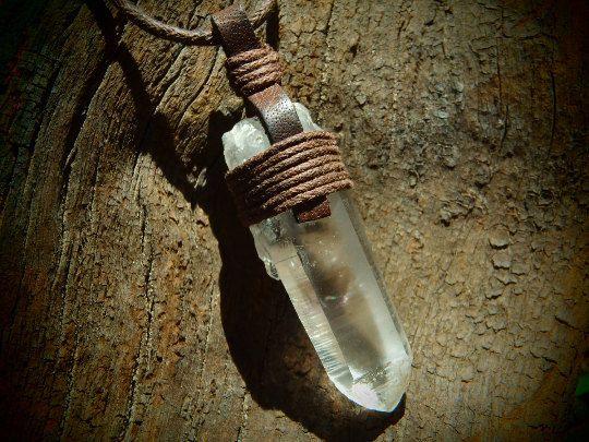 Brandberg Smoky Amethyst pendentif en cristal par SpiralSoulSeed