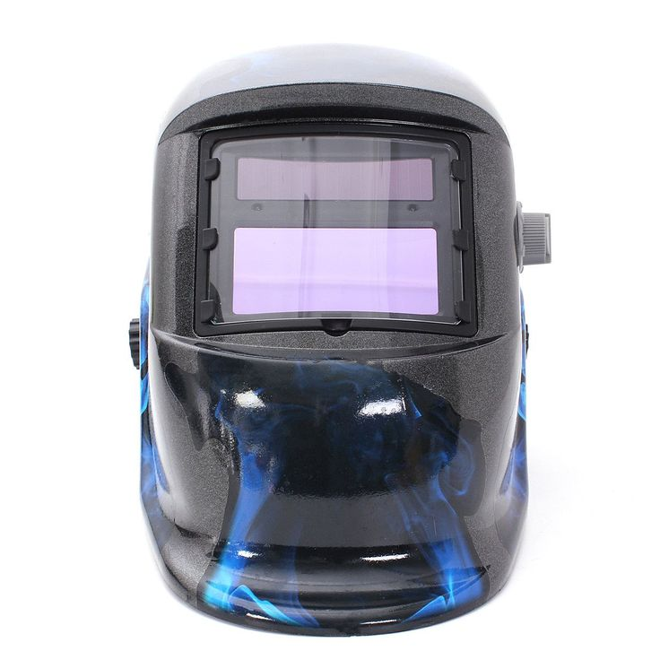 Hot Sale Pro Solar Welding Mask Auto Darkening Welding Helmet Blue Skull Style ARC TIG MIG Welding Helmet #Affiliate