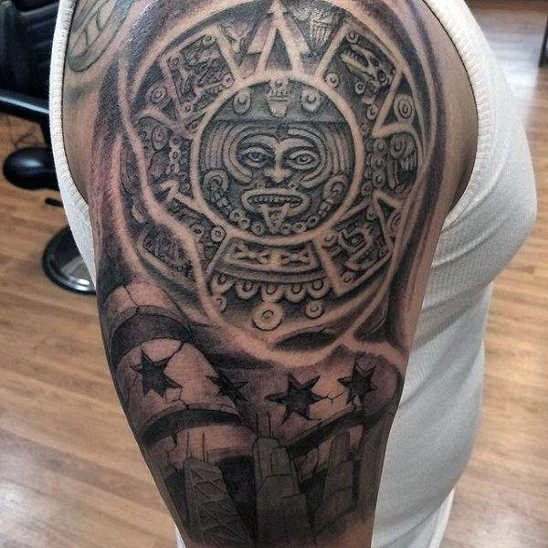 50 Chicago Flag Tattoo Designs For Men Illinois Ink Ideas Tattoo Designs Men Chicago Flag Tattoo Tattoos