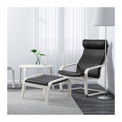 IKEA - POÄNG, Sessel, Smidig schwarz, , Weiches, strapazierfähiges und pflegeleichtes Leder, das schön altert.Das Gestell aus schichtverleimter, formgebogener Birke sorgt für sanftes Schwingen.Kann für noch mehr Bequemlichkeit mit dem POÄNG Hocker kombiniert werden.Die hohe Rückenlehne stützt den Nackenbereich.Inklusive 10 Jahre Garantie. Mehr darüber in der Garantiebroschüre.