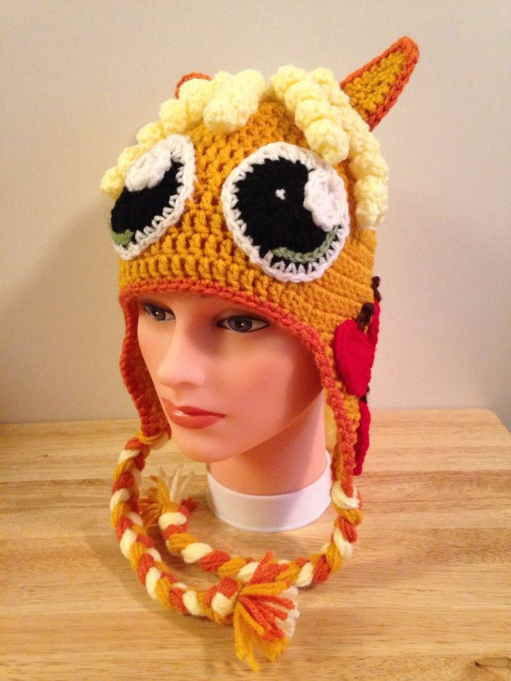 Crocheted My Little Pony Applejack Hat by HooksandNeedles2 on Etsy https://www.etsy.com/listing/209417051/crocheted-my-little-pony-applejack-hat