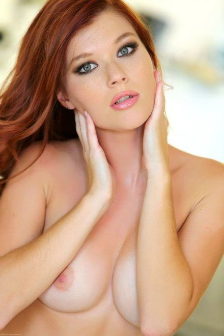 Redhead lactating boobs